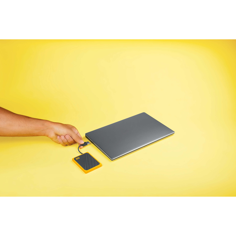 WD My Passport GO SSD 2TB Black/Yellow - Tura Scandinavia AB