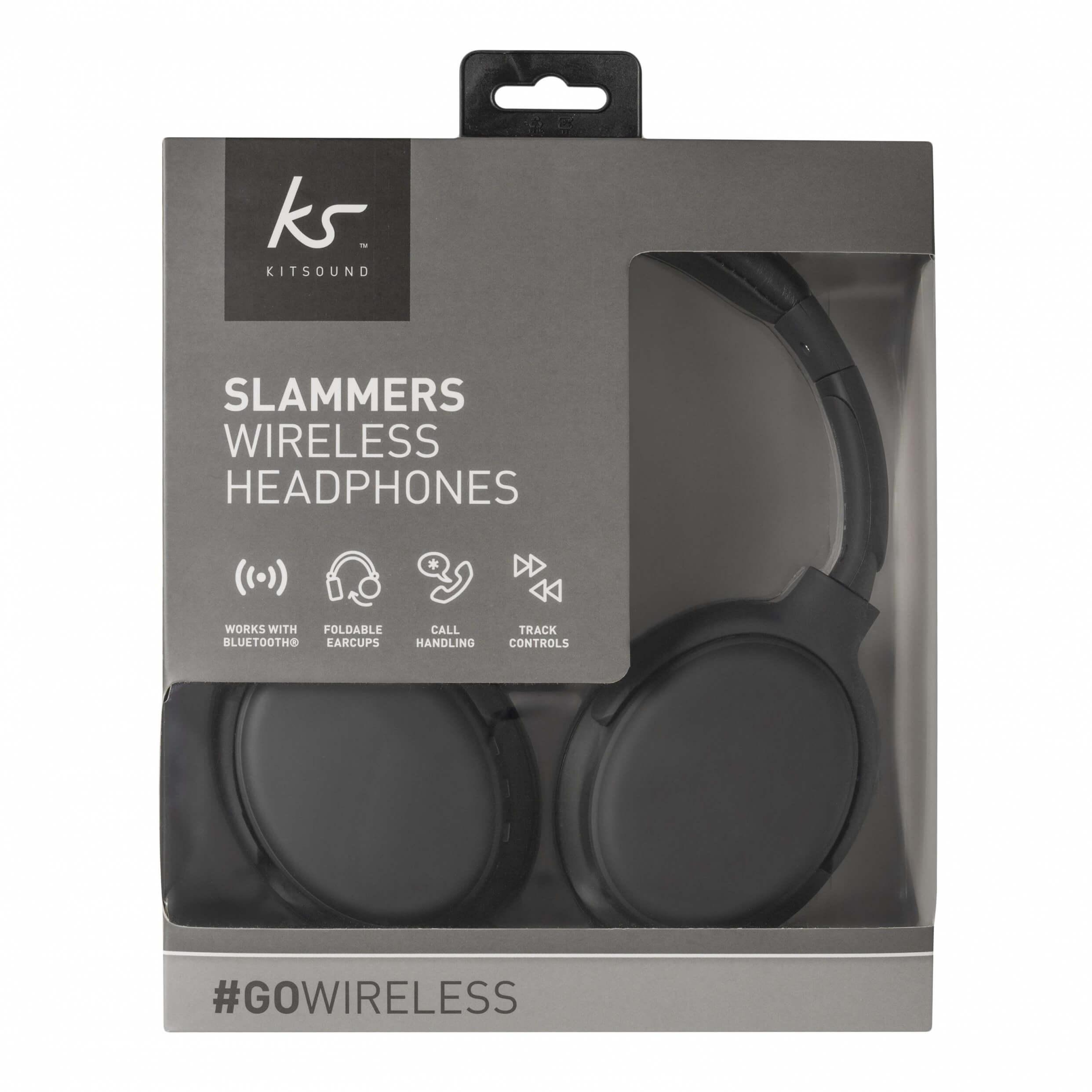 kitsound slammers trådlösa hörlurar