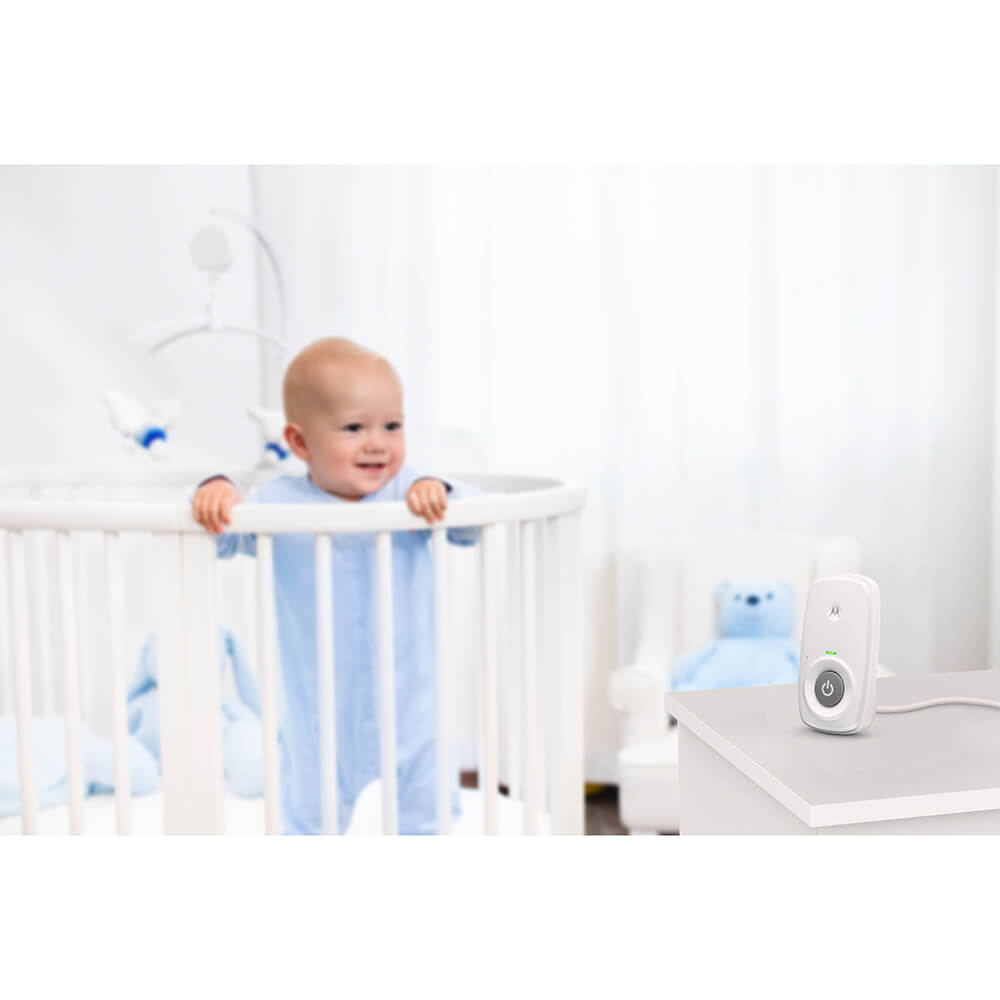 Motorola Baby MBP24 Audio Baby Monitor with Backlit Display and Two-Way Talk