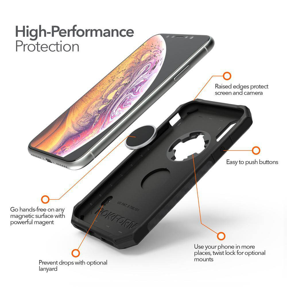 Rokform Mobilecover Rugged Mountsystem Black Iphone Xs X