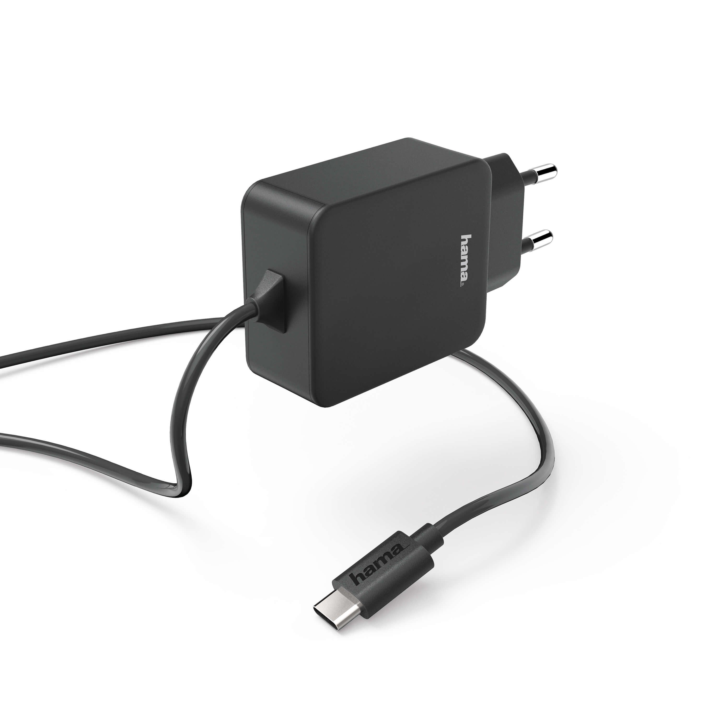 HAMA Charger 220V USB C 3A Black mounted cable