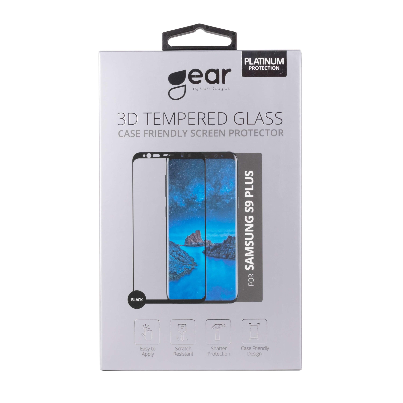 GEAR Glass Prot  3D Samsung S9 Plus Edge to Edge Black